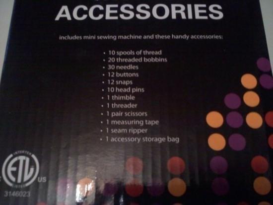 list accessories