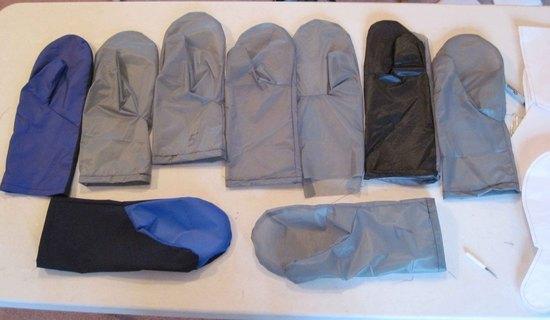 Rain Mitt prototypes