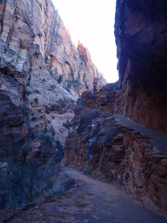 The end of Refrigerator Canyon and start of Walters Wiggles