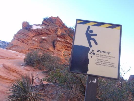 Warning Sign & Angels Landing