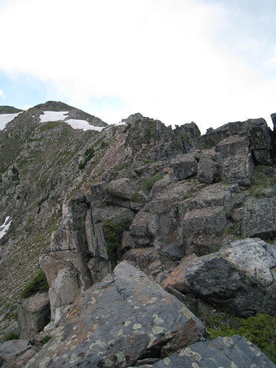 the ridge to Ute Pass