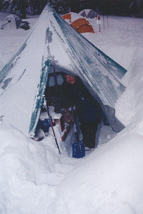 Vic C's Tent in snow