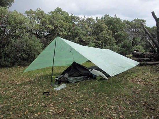 Unknown Green Tarp and Unknown Bivy