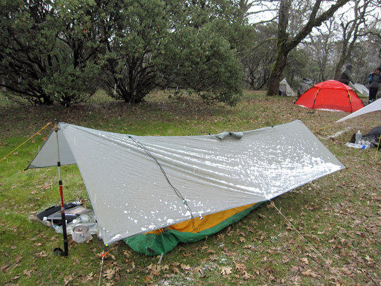 Tony's Mountain Laurel Designs Poncho Tarp and Soul Side Zip Bivy with eVent Top