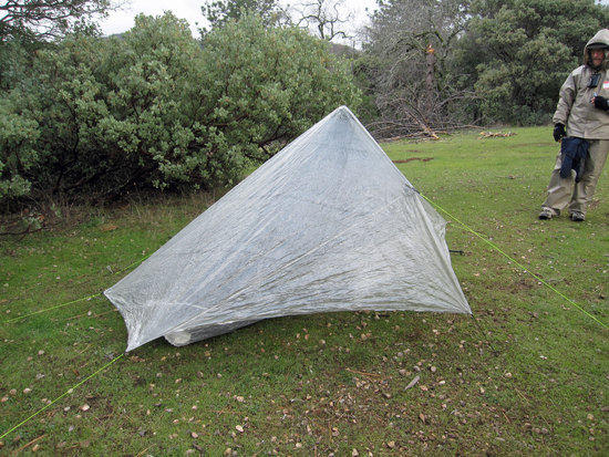 Richard's Hexamd Solo Tarp with HexaNet Solo Bug Shelter 2