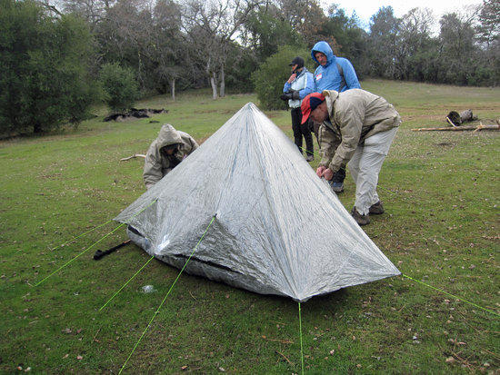 Richard's Hexamd Solo Tarp with HexaNet Solo Bug Shelter 3