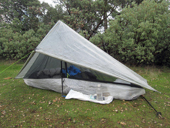 Richard's Hexamd Solo Tarp with HexaNet Solo Bug Shelter 4