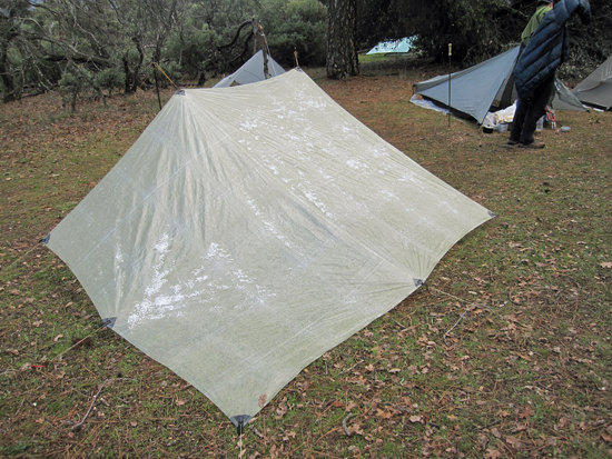 Ben's Tarp with a Light Dusting of Snow