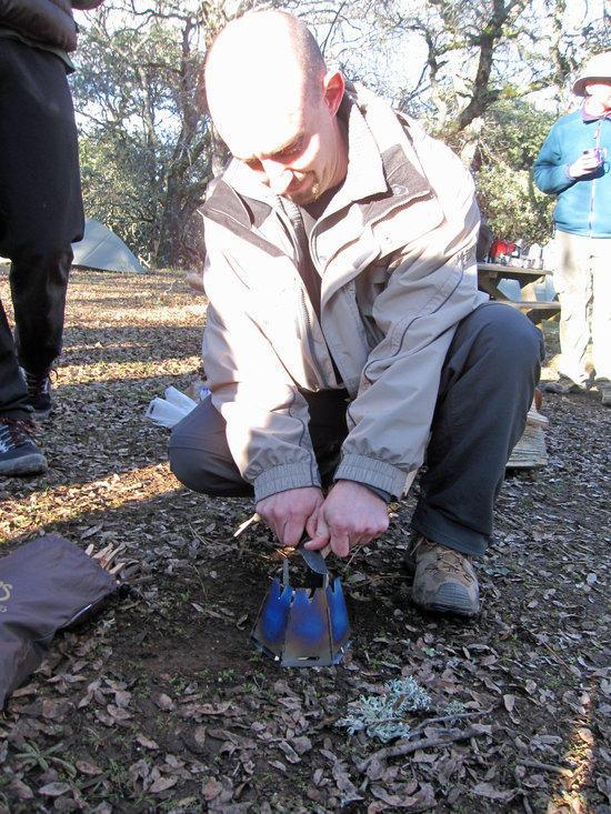 Aaron's Vargo Titanium Hexagon Wood Stove