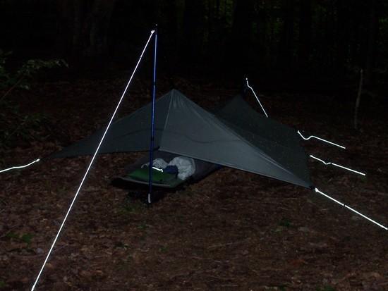Camp setup at Cherry Gap 2010