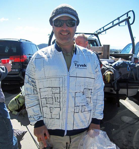Score! Tyvek Jacket. Now only if they had Topo Maps On Them