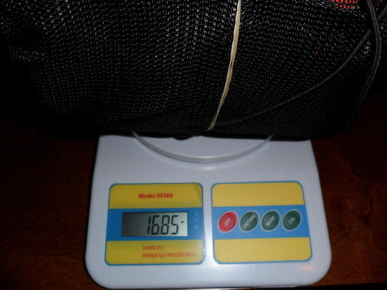 My New XPACk weighed on my digital scale
