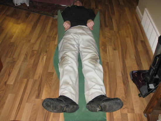 Dirty Knee guy lying on it