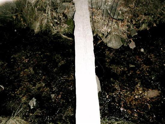 Stream crossing at dark
