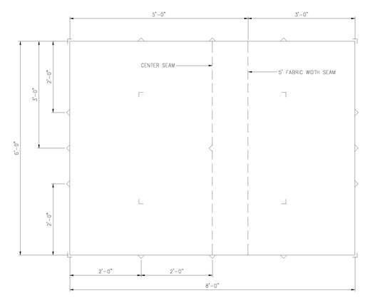 6' x 8' flat tarp