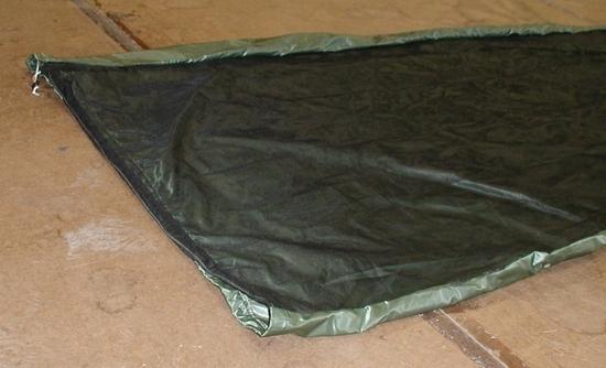 Hot weather bivy from head