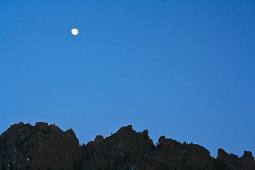 moon over ridge