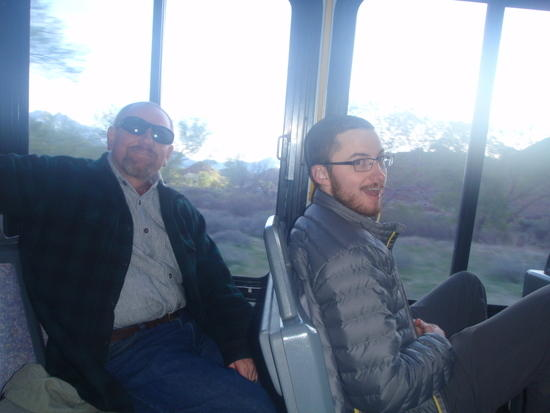 Rich & Devin on the shuttle