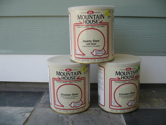 3 Large Cans Mountain House Freeze Dried Dinners- 26.9oz each.  All for $17.00 shipped Cont. US