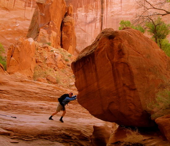 Ryan Commons Keeping the rock in place in Escalante Utah