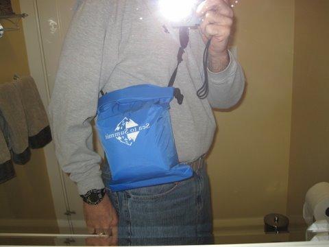 bag being worn