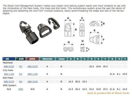 shock cord management