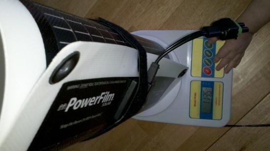 7 watt rollable powerfilm weight