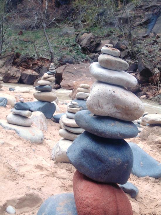 Pretty river rock
