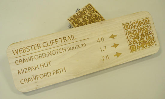 QR code on Trail Sign