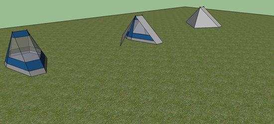 All 3 stages of the tent