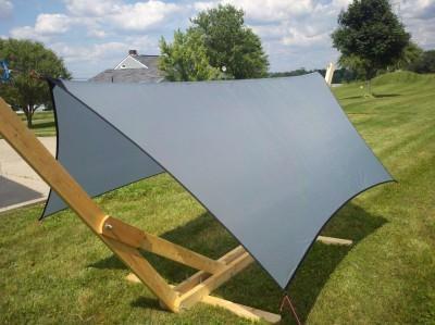 silnylon tarp with grosgrain edging