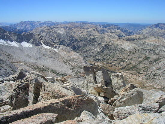 View from the Crest near Matterhorn Peak in August