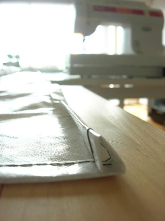 Folding the hem
