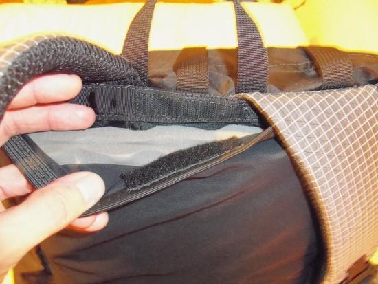 Back pad sleeve opening