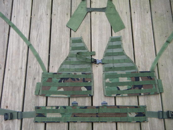 cut up military mesh pack