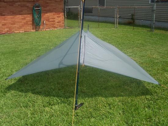Silnylon MYOG shaped tarp with zippered beak