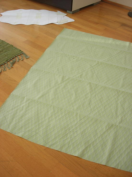Marking and cutting the fabric