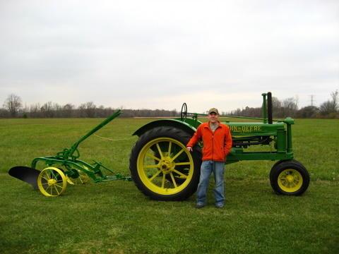 John Deere B & No. 51 plow