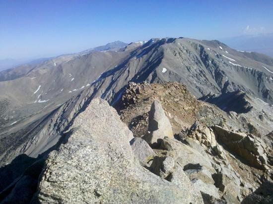 Looking south from the summit of Montgomery Peak