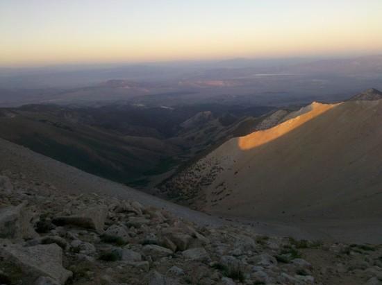 Trail Canyon at sunset