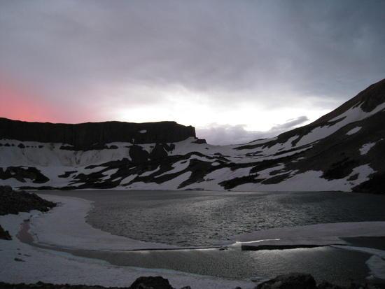 snow drift lake