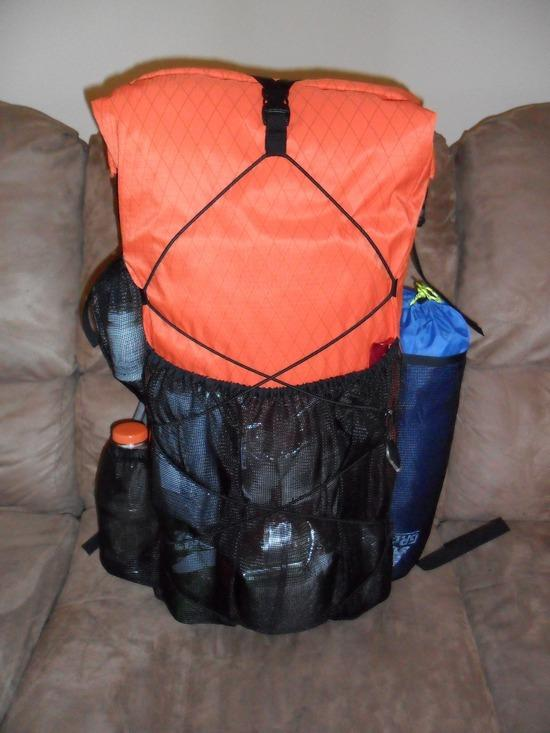 My MYOG pack with 3/4 RR inside as virtual frame