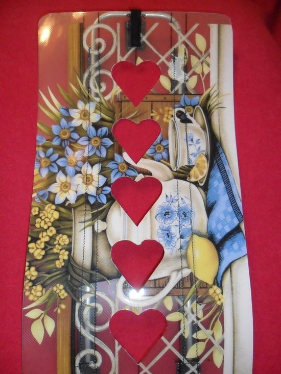 Frame sheet with heart shaped cut outs