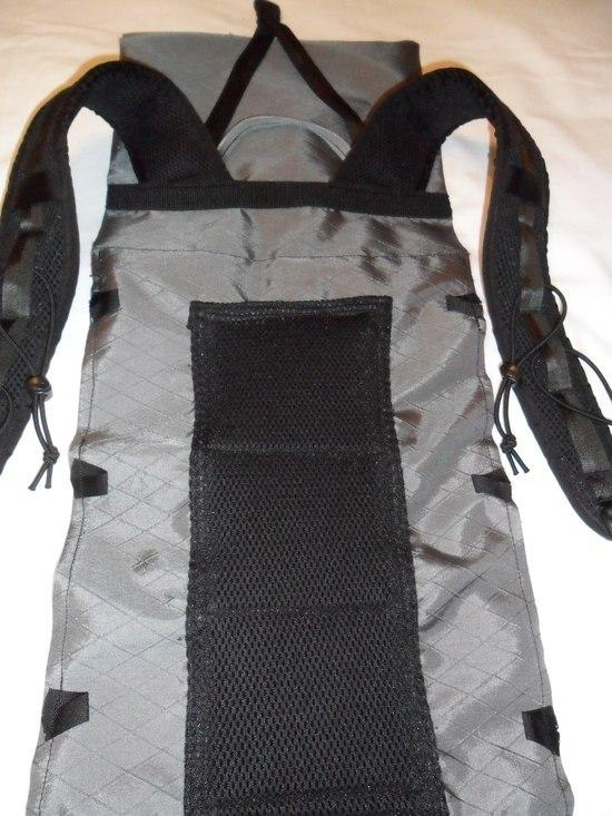 Pack front with shoulder straps, haul loop and Y strap