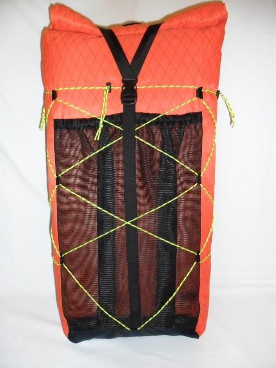 My Wife's Daypack Rear Panel & Compression Cordage