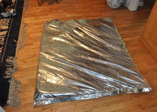 Space blanket and polyfil insulator