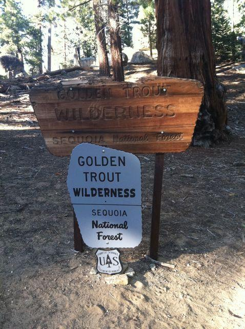 Entry to Golden Trout Wilderness