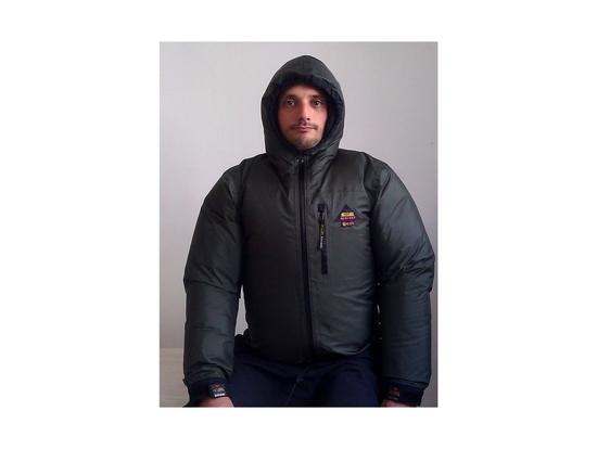 under a jacket