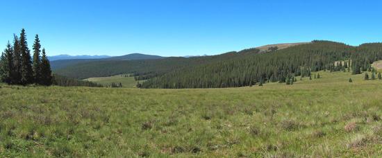 View south from Jarosa Mesa toward the Weminuche