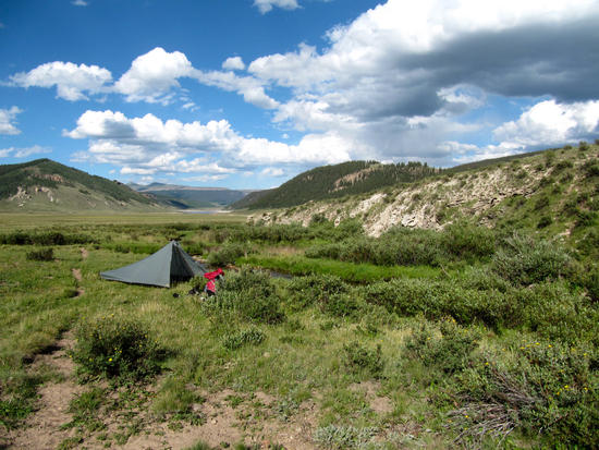 1st camp, on Kitty Creek